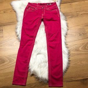 Miss Me Pink Studded Angel Wings Jean